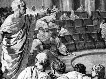 Cicero in the Roman senate. Photograph: Baldwin H Ward/Kathryn C Ward